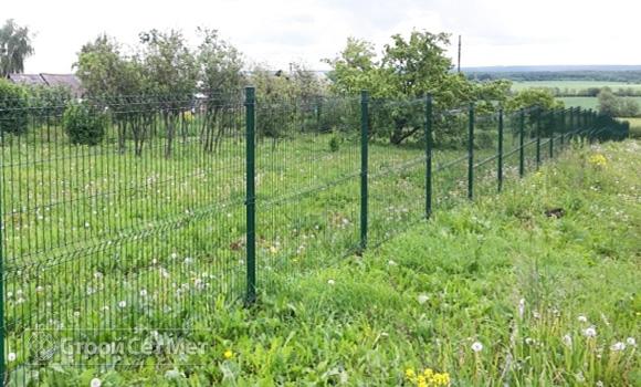 Фото 209. Забор из 3d, 3Д панелей c установкой и монтажом под ключ купить в Минске зеленый