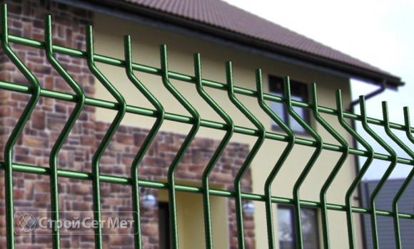 Фото 40. Забор 3d, сварной забор фотографии фото под ключ с установкой под заказ купить в Минске