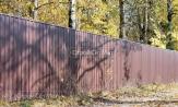 Забор из профлиста профнастила металлопрофиля ПС-21 фотографии фото под ключ с установкой коричневый 8017 в Минске