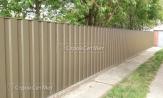 Красивый забор из профлиста профнастила металлопрофиля МП-20 фото под ключ с установкой под заказ купить в Минске RAL 1015