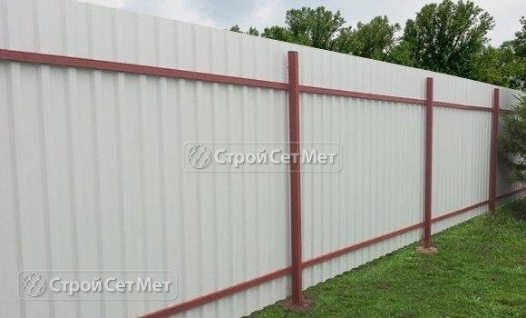 Фото 300. Красивый забор из профлиста профнастила металлопрофиля МП-20