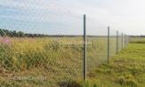 Металлический забор из оцинкованной сетки рабицы заказать под ключ, в Минске, низкая цена с установкой и монтажом