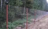 Забор из сетки рабицы, цена, купить в Минске с установкой, монтажом
