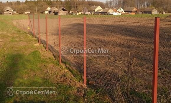 Фото 107. Забор из сетки рабицы под ключ, цена с установкой и монтажом, в Минске
