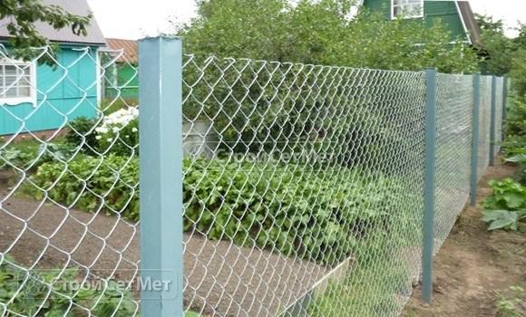Фото 111. Купить в Минске забор из сетки рабицы с установкой и монтажом