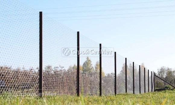 Фото 217. Забор из сетки рабицы цена с установкой, монтажом