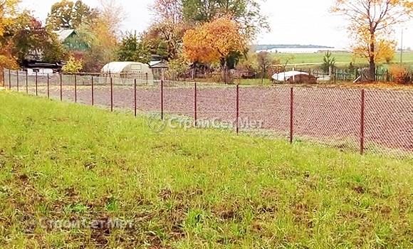 Фото 529. Забор новый из сетки рабицы под ключ