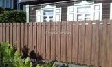 Забор из металлического штакетника, забор из евроштакетника, металлоштакетника, купить под ключ, фото заборы двухсторонняя зашивка, установка, монтаж
