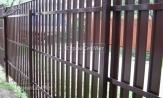 Забор 8017 из металлического штакетника фото, забора из евроштакетника, купить заказать под ключ, установка, монтаж