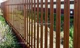 Забор металлический из евроштакетника, купить под ключ, установка, монтаж