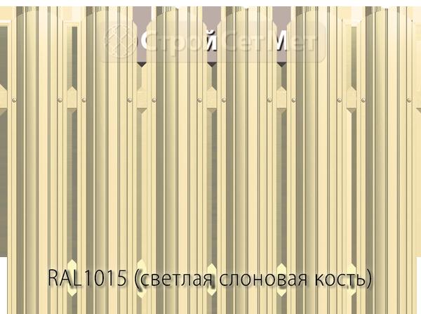 Для забора металлический штакетник евро штакет металло цвет RAL1015