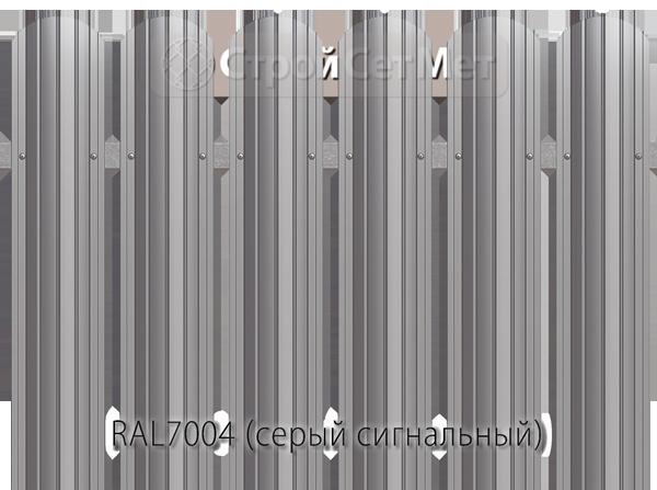Для забора металлический штакетник евро штакет металло цвет RAL7004
