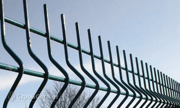 Забор 3д (3D) из панелей сетки c установкой и монтажом под ключ купить в Минске зеленый