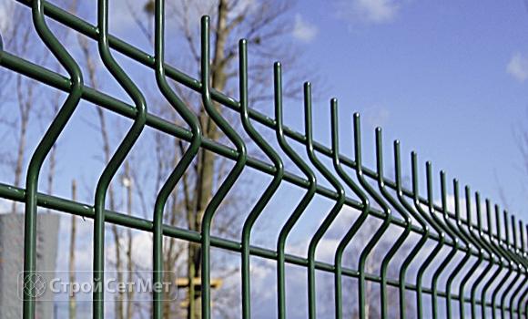 Забор из 3d, 3Д панелей c установкой и монтажом под ключ купить в Минске зеленый