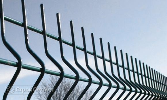 Фото 206. Забор 3д (3D) из панелей сетки c установкой и монтажом под ключ купить в Минске зеленый