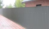 Забор из профлиста профнастила металлопрофиля фото под ключ с установкой монтажом под заказ купить в Минске серый RAL-7025