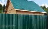 Красивый забор из профлиста профнастила металлопрофиля МП-20 фото под ключ с установкой под заказ купить в Минске зеленый RAL-6005
