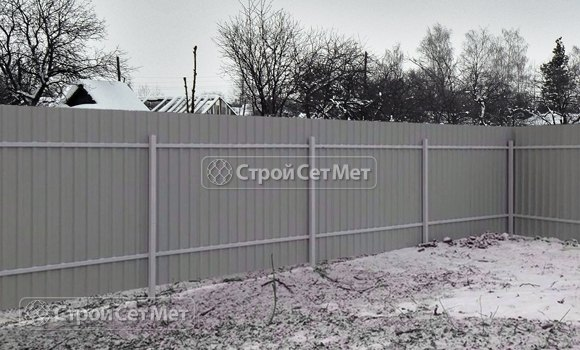 Фото 318. Забор из профлиста профнастила металлопрофиля обратная сторона