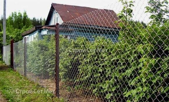 Фото 108. Металлический забор из оцинкованной сетки рабицы заказать под ключ, в минске, низкая цена