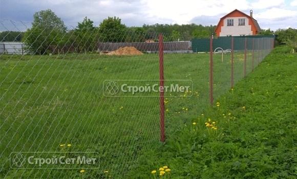 Фото 109. Забор из сетки рабицы под ключ цена в Минске с установкой и монтажом
