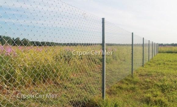 Фото 113. Металлический забор из оцинкованной сетки рабицы заказать под ключ, в Минске, низкая цена с установкой и монтажом