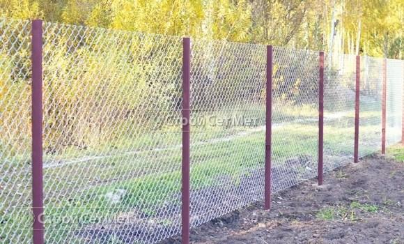 Фото 218. Забор из сетки рабицы цена с установкой, монтажом