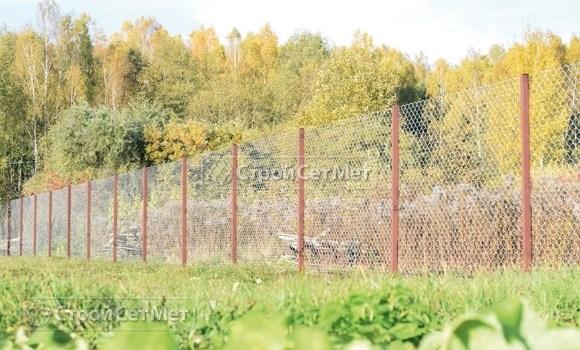 Фото 219. Забор из сетки рабицы цена с установкой, монтажом