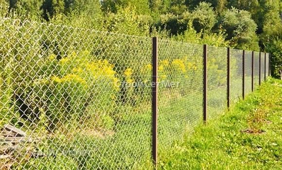 Фото 534. Забор из сетки рабицы под ключ