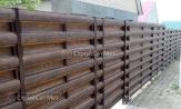 Забор из металлического штакетника горизонтальный, забор в Минске из евроштакетника, металлоштакетника, купить под ключ, фото заборы, установка, монтаж