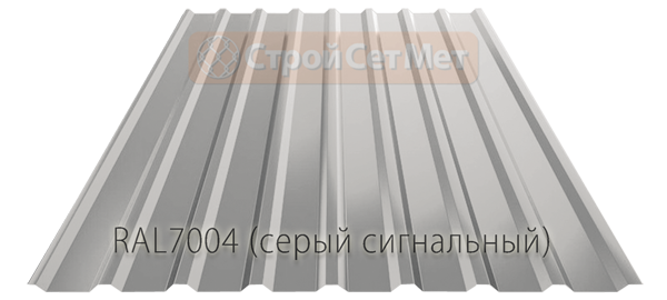 Профлист, профнастил, металлопрофиль МП-20 RAL7004