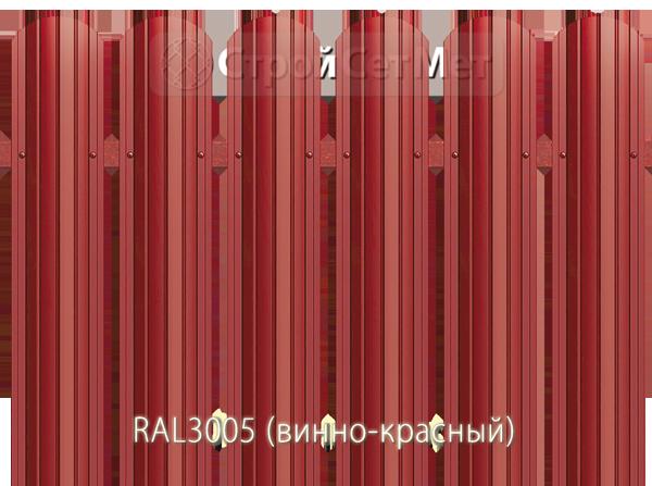 Для забора металлический штакетник евро штакет металло цвет RAL3005