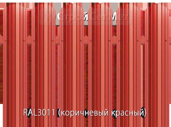 Для забора металлический штакетник евро штакет металло цвет RAL3011