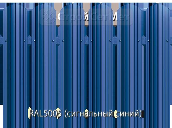 Для забора металлический штакетник евро штакет металло цвет RAL5005