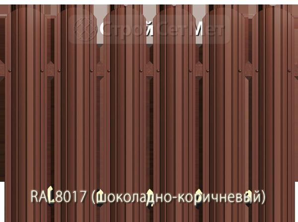 Для забора металлический штакетник евро штакет металло цвет RAL8017