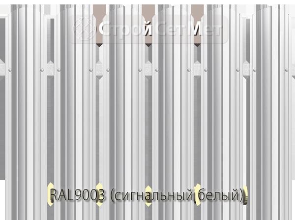 Для забора металлический штакетник евро штакет металло цвет RAL9003