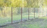 """Забор высотой 1.8 м из сетки рабицы 55х55 купить с установкой монтажом под ключ под заказ. В УП """"СтройСетМет"""" в Минске."""