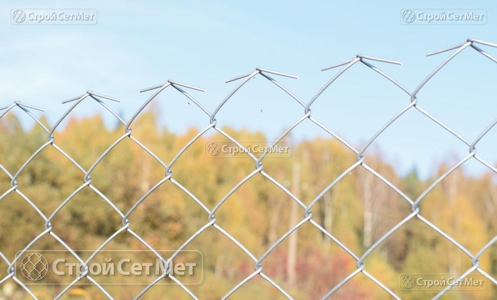 Сетка рабица оцинкованная 55х55 мм забор купить в Минске СтройСетМет